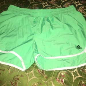 Brand new adidas bright green shorts